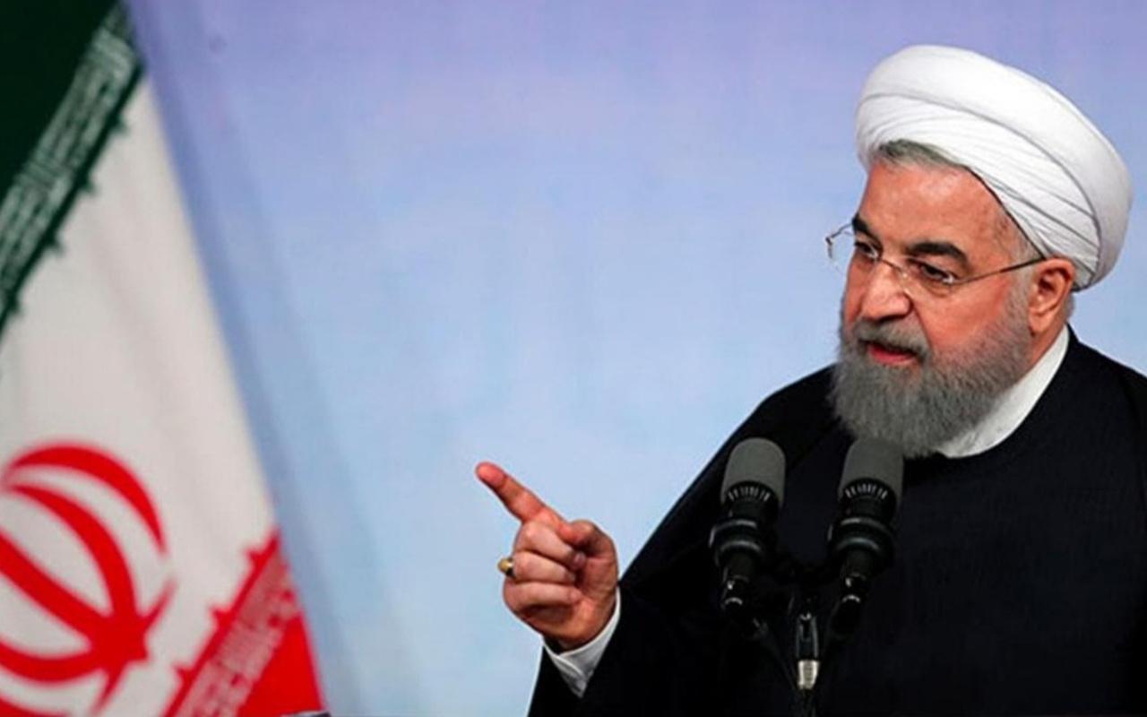 Ruhani'den ABD yaptırımlarına ilişkin açıklama! Teslim olmaya mecbur bırakacağız