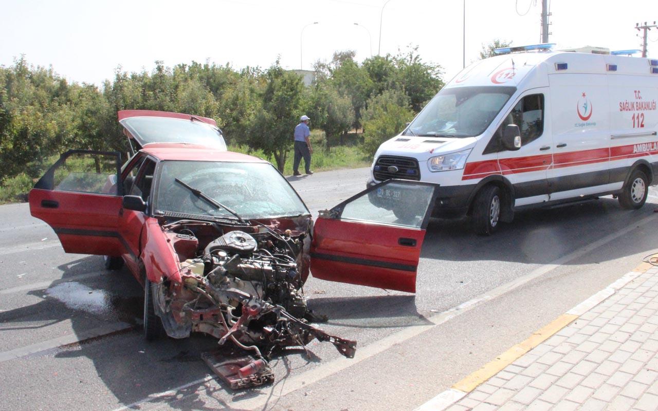 Karaman'da yok böyle kaza: Otomobil parçalara ayrıldı