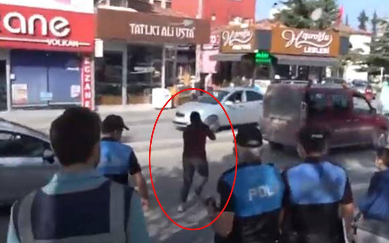 Çorum'da polis şaştı kaldı! Maskesiz vatandaş ceza kesileceğini anlayınca öyle bir kaçtı ki...