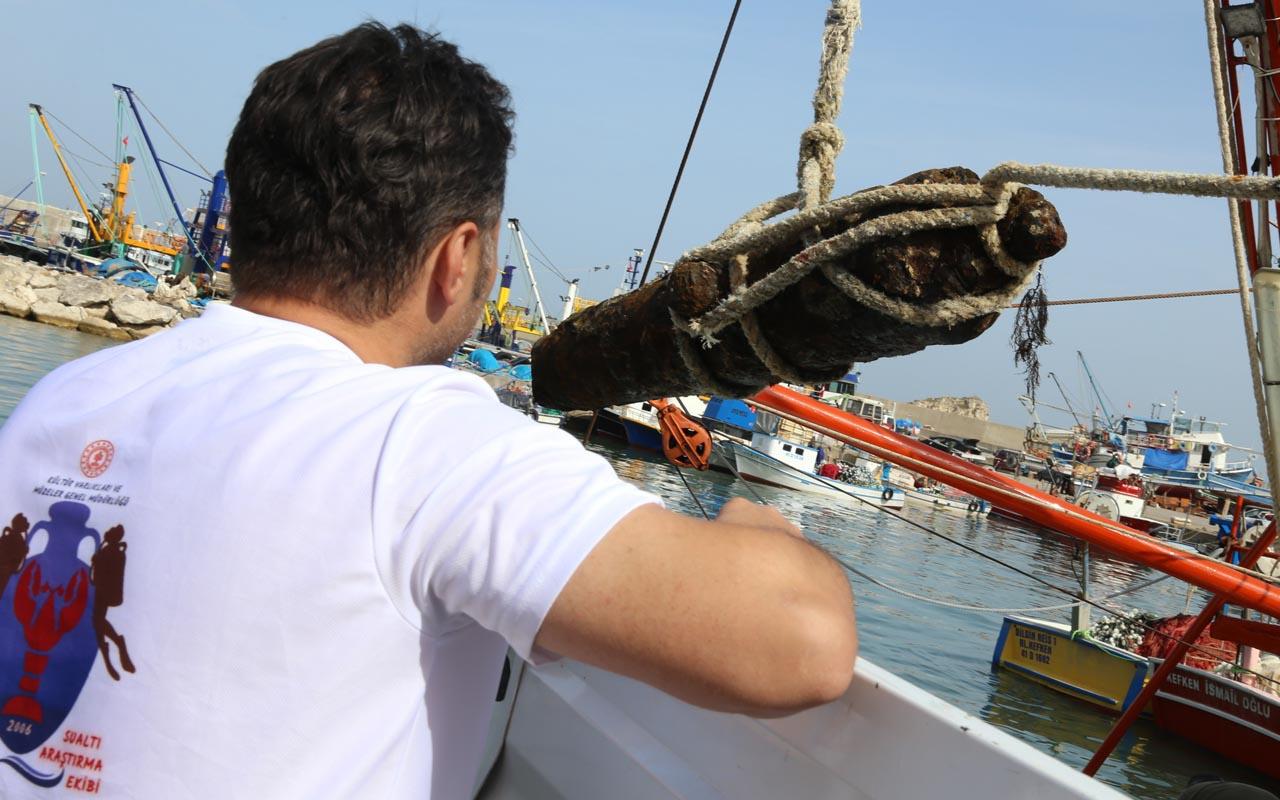Karadeniz'in dibinde 800 kiloluk müthiş keşif Osmanlı'dan kaldığı düşünülüyor