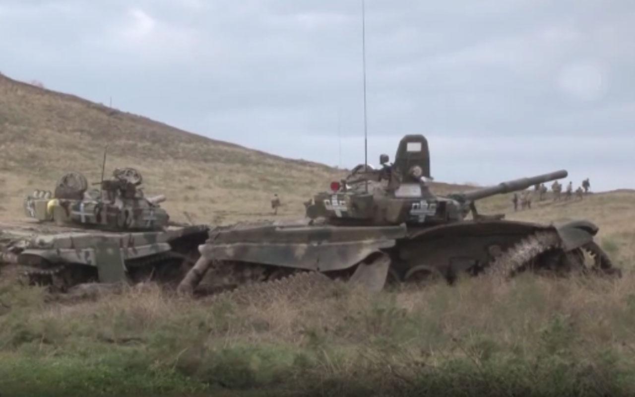 Ermenistan ordusu tanklarını bırakıp kaçtı cepheden yeni görüntü