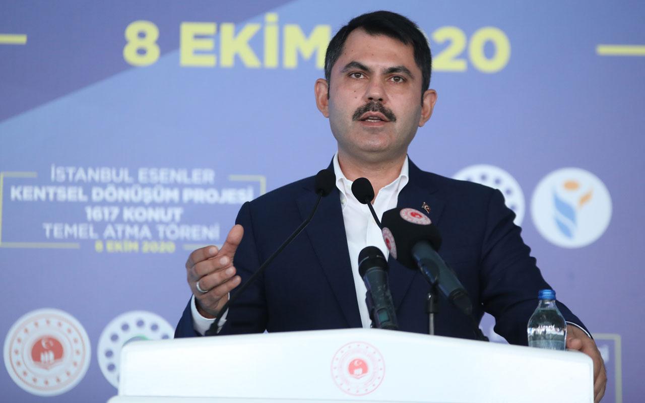 Murat Kurum'dan Saraçoğlu projesi açıklaması