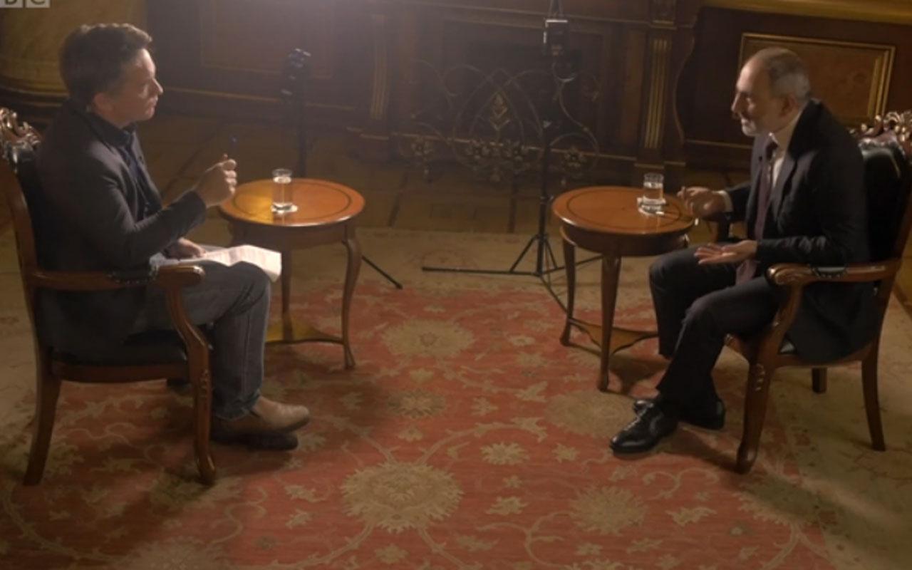 Paşinyan BBC'de ikinci kez terledi cevap veremedi konuyu değiştirdi