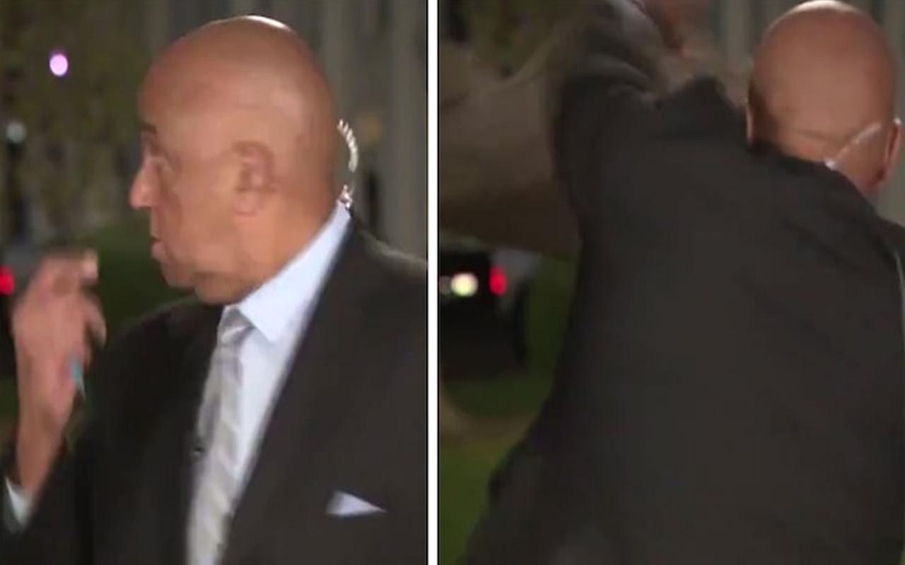 CNN muhabiri neye uğradığını şaşırdı! Önce bağırdı sonra kutuyu attı