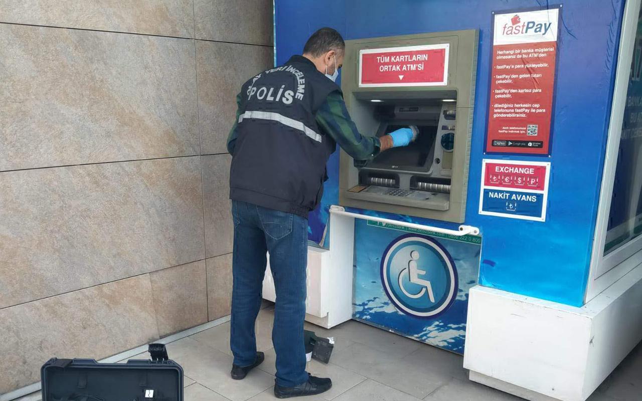 Kocali Gölcük'te para çekemeyince ATM'yi kırdı