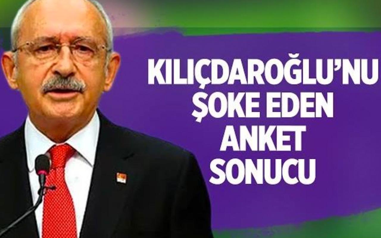 CHP lideri Kemal Kılıçdaroğlu'nu şoke eden anket sonucu!