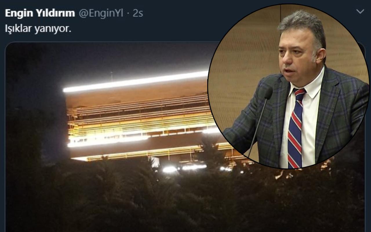 Anayasa Mahkemesi Üyesi Engin Yıldırım'ın 'ışıklar yanıyor' twitine tepki yağdı