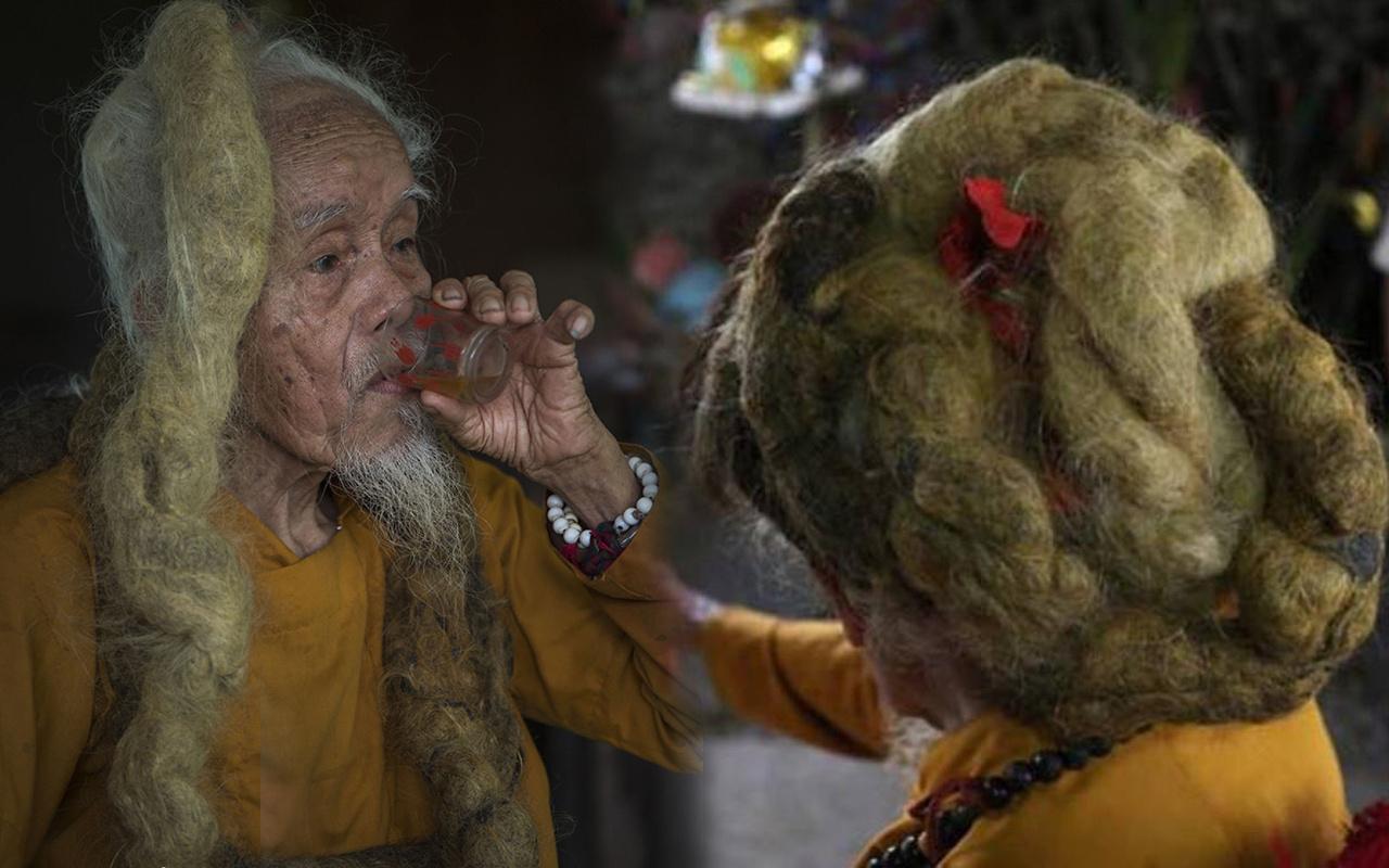 92 yaşındaki adam 80 yıldır saçını ne kesiyor ne de yıkıyor! Sebebi ise herkesi şaşırttı
