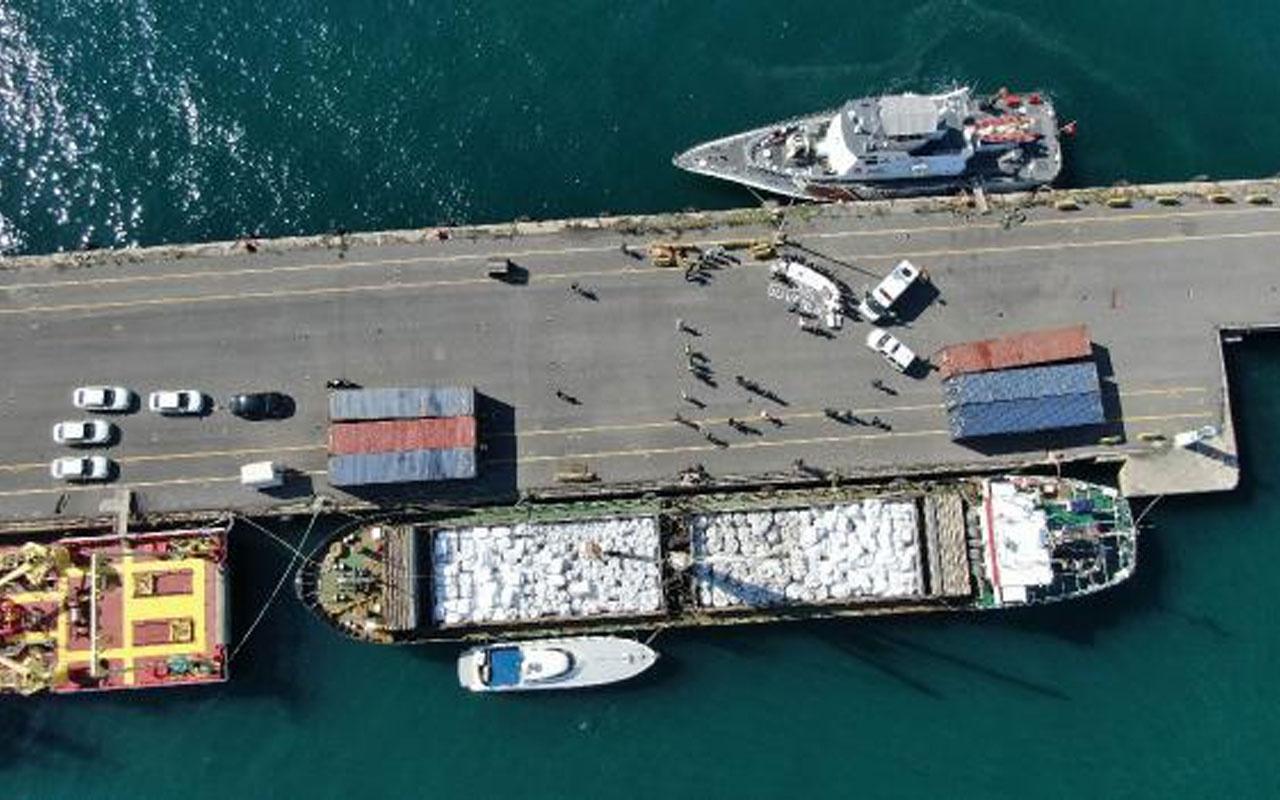 Marmara denizinde gemiye operasyon! 3 milyon paket sigara ele geçirildi