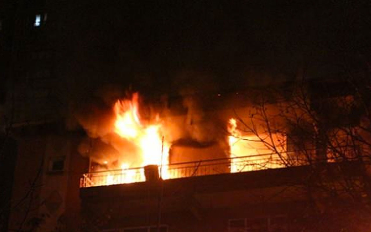 Beşiktaş'ta bir apartmanda yangın çıktı