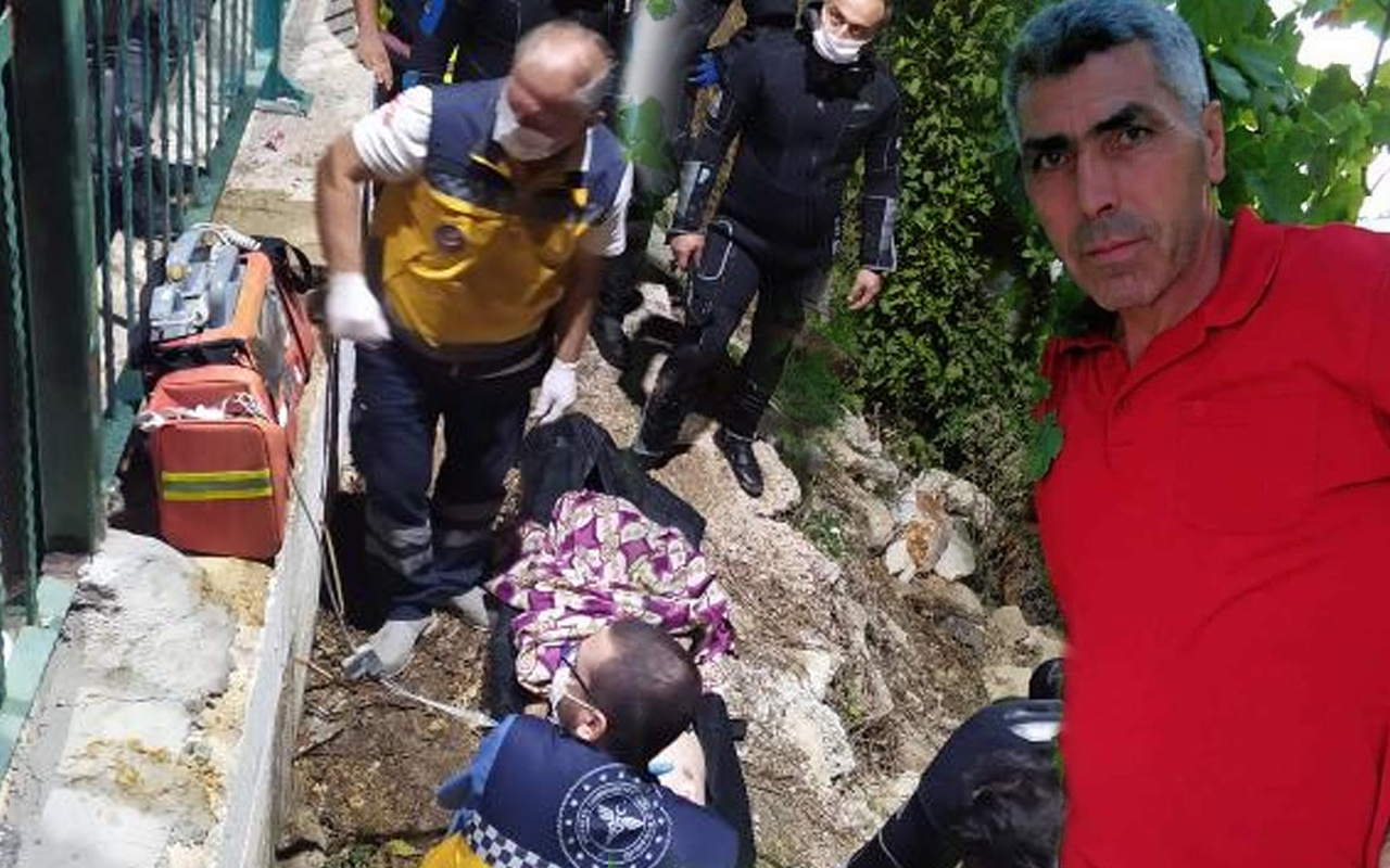 Mersin'de köprü üzerinden nehre atlayan adamın cansız bedenine ulaşıldı