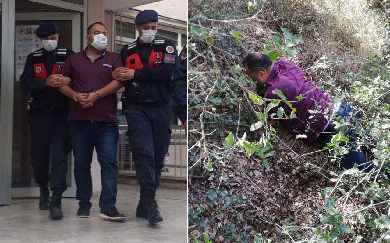 Denizli'de çete lideri 1 yıldır saklandığı ormanda yakalandı