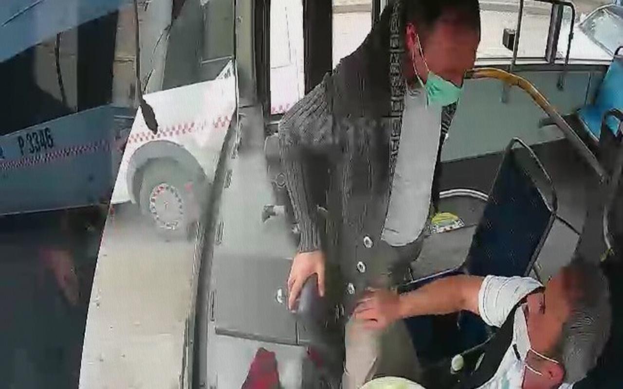 Kocaeli'de bir kişi istediği yerde inemeyince seyir halindeki otobüsün frenine bastı