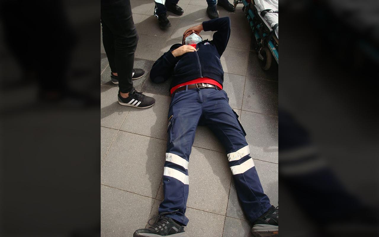 Aksaray'da eczane çalışanından maske denetimindeki sağlık görevlisine saldırı