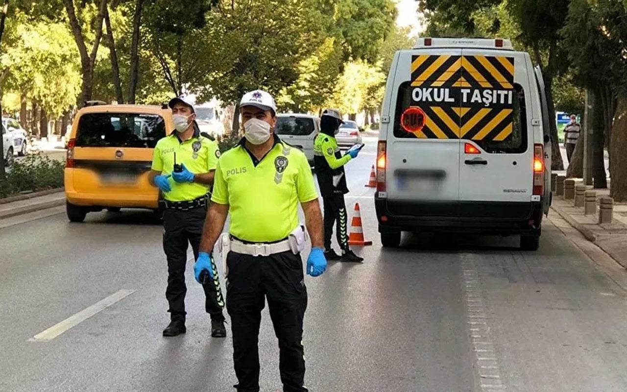 Emniyet Genel Müdürlüğü açıkladı: 159 okul servis aracı trafikten men edildi