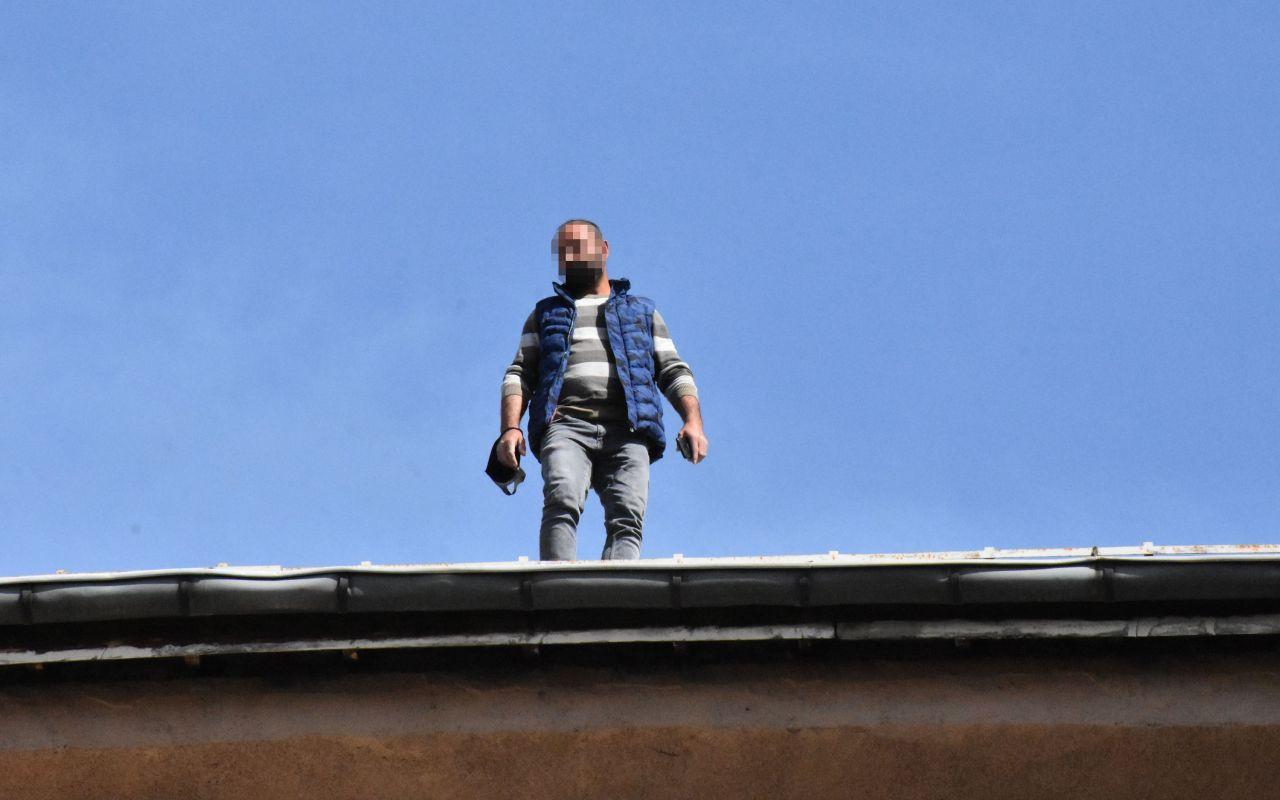 Sivas'ta olayı gören koştu cep telefonuna sarıldı
