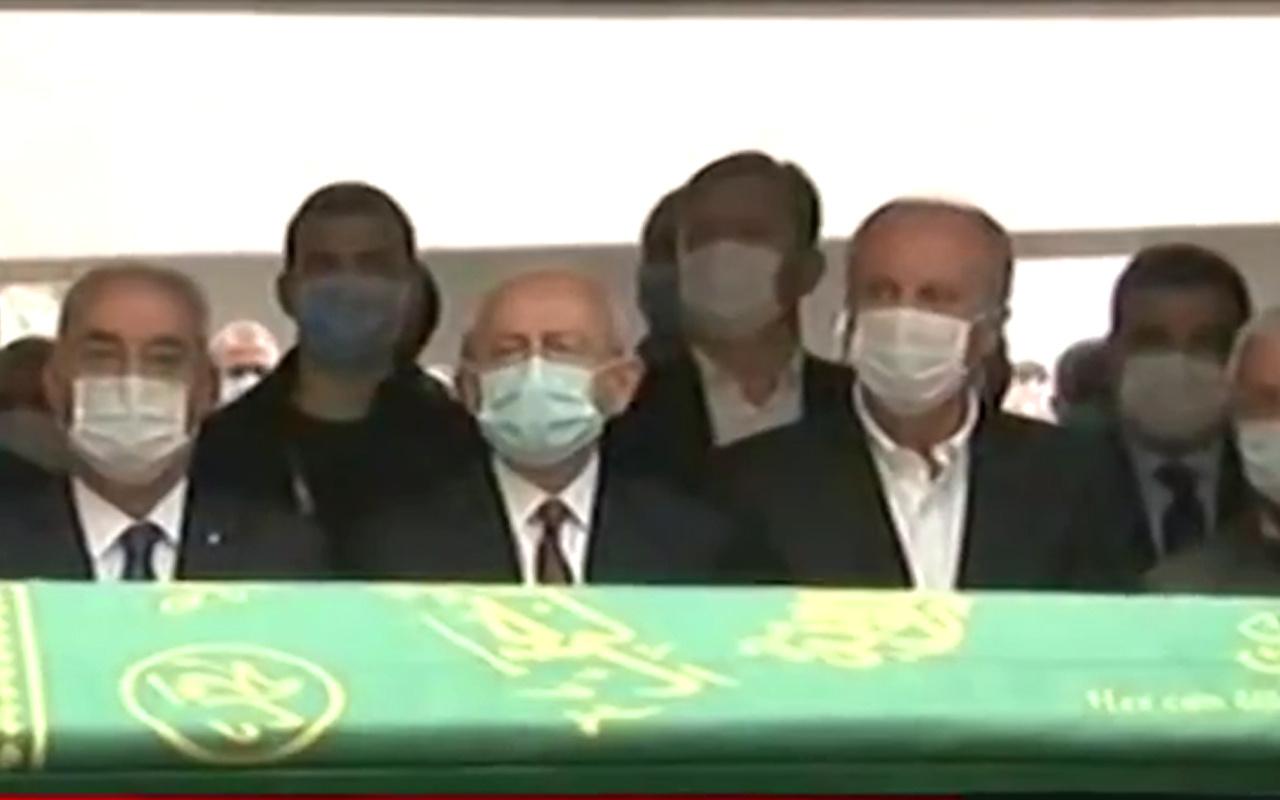 Kılıçdaroğlu ve Muharrem İnce Bekir Coşkun'un cenazesinde yan yana saf tuttu! İşte o anlar