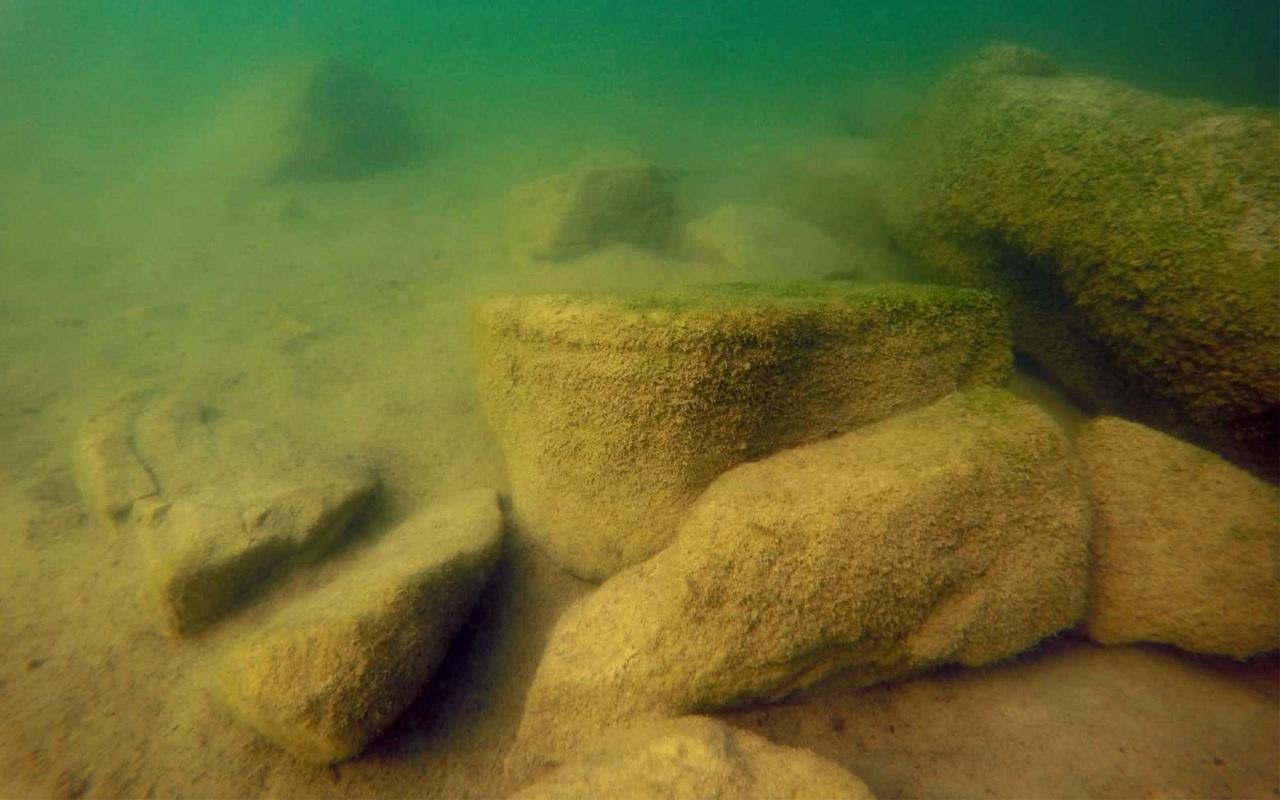 Ordu'da gölde kalıntılara rastlandı! Görenler hayret ettş