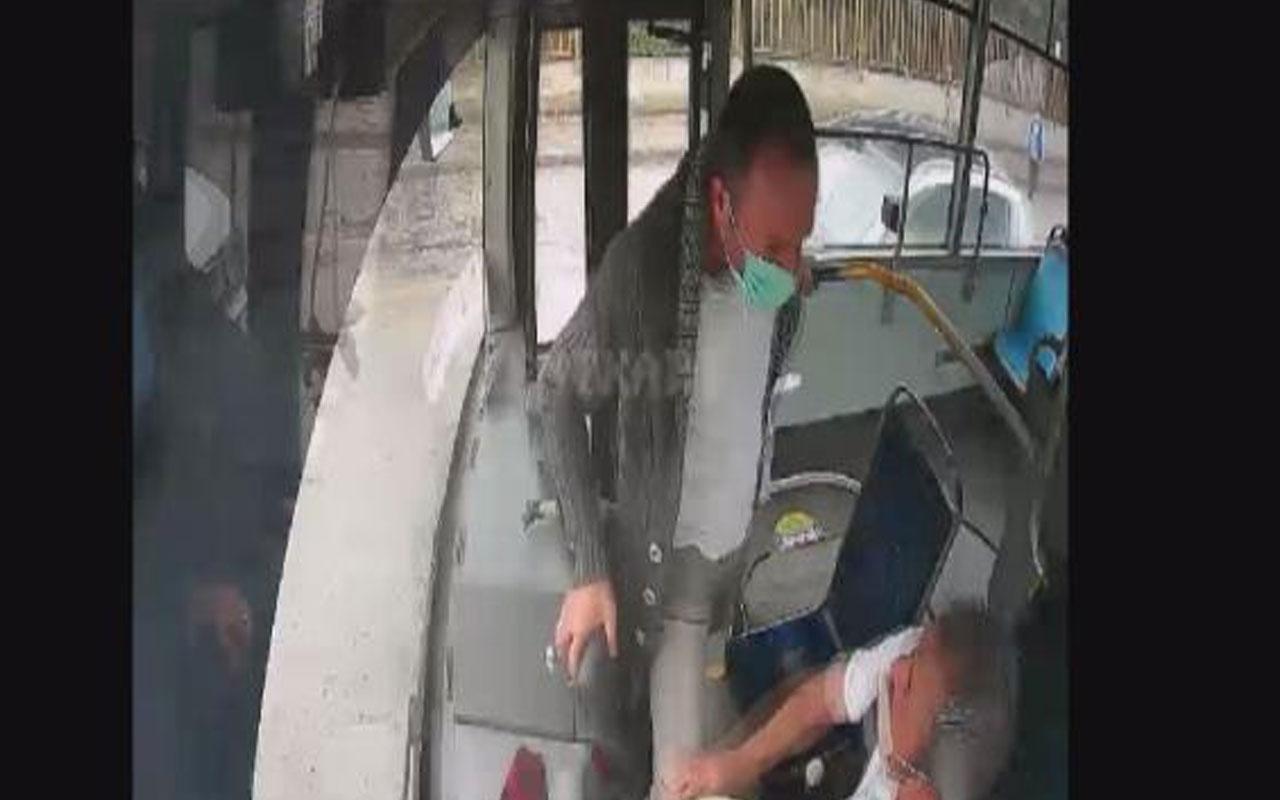 Kocaeli'de yaşandı! İstediği yerde inmek isteyen yolcu seyir halindeki otobüsün frenine bastı
