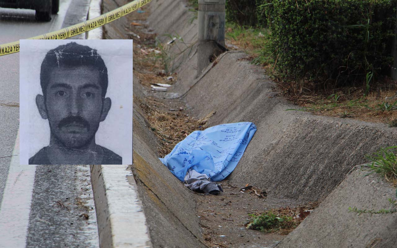 Antalya'da kaldırıma çarpıp tahliye kanalına düşerek öldü