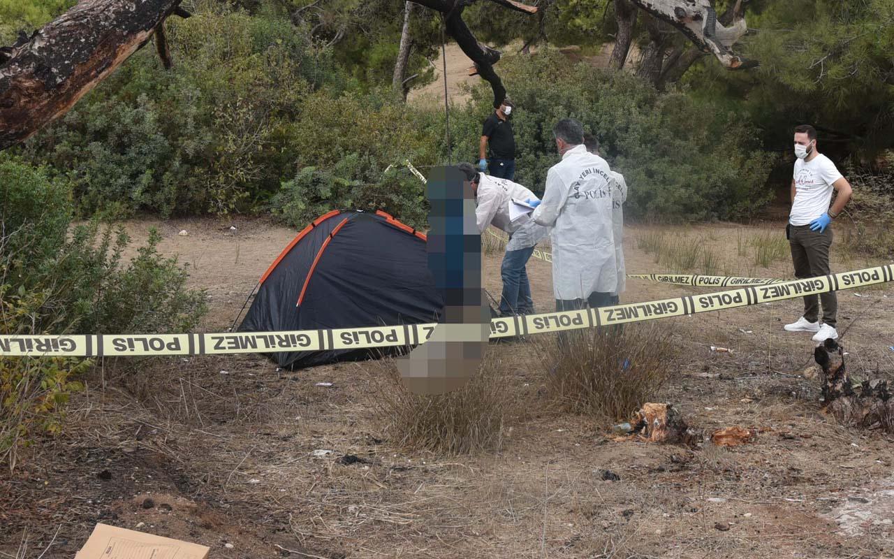 Antalya'da genç adam çadır kurduğu yerin yanındaki ağaca kendini astı