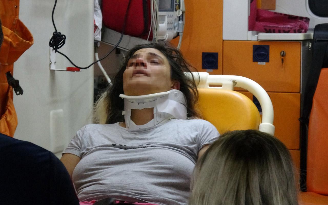 Adana'da genç kadın eşi tarafından hastanelik edildi