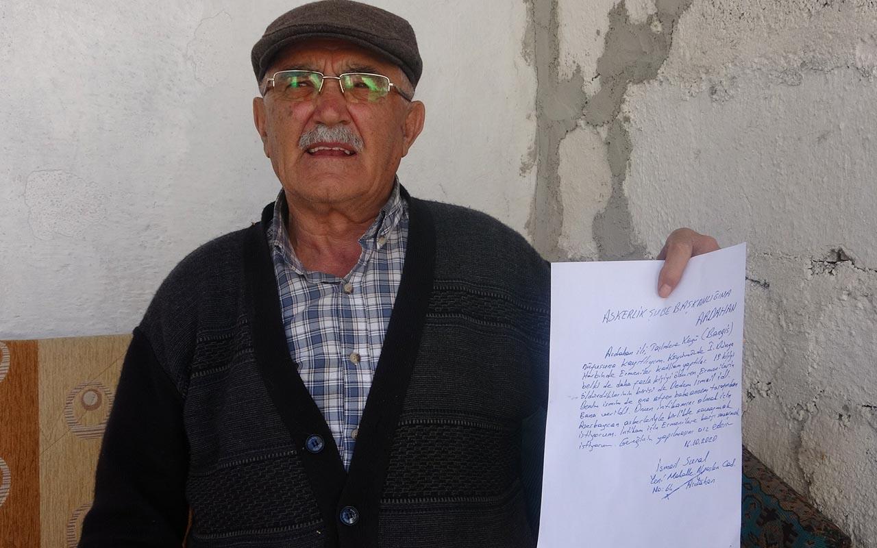 Ardahan'da Ermenilerin katlettiği dedesi için dilekçe yazdı: Azerbaycan'a gitmek istiyor