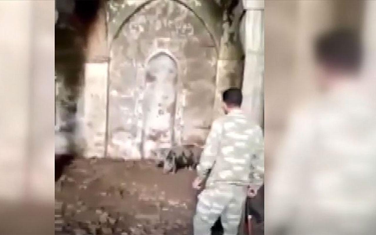 Ermenilerin işgal altında tuttukları Zengilan kentinin camisinde domuz besledikleri ortaya çıktı