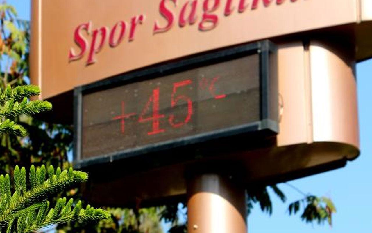 Yaz geri geldi! Adana'da termometreler 45 dereceyi gösterdi