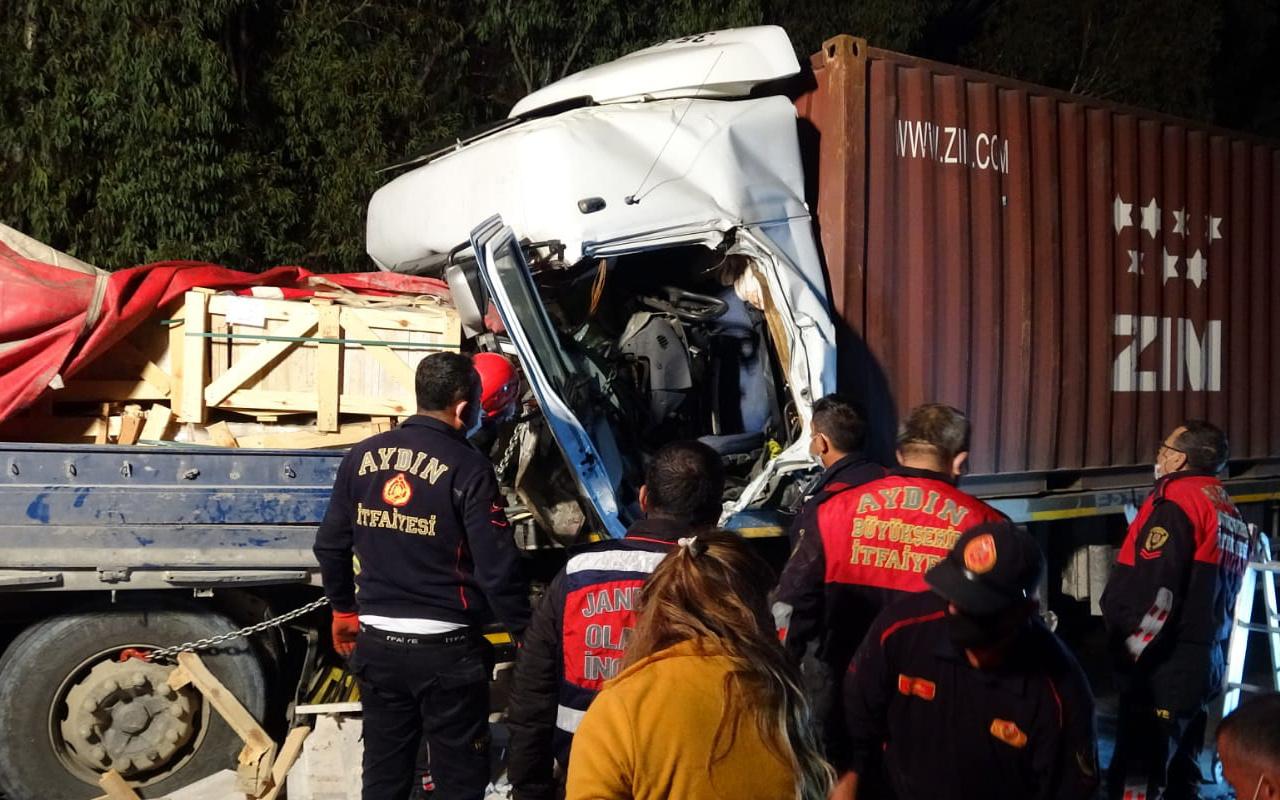 Aydın'da dehşet veren kaza! TIR'ın içinde feci şekilde can verdi