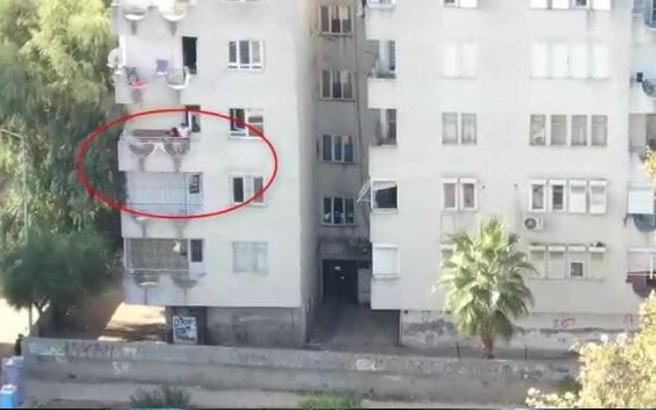 Antalya'da polis eve baskın yaptı! Kadın balkondan aşağı hepsini attı