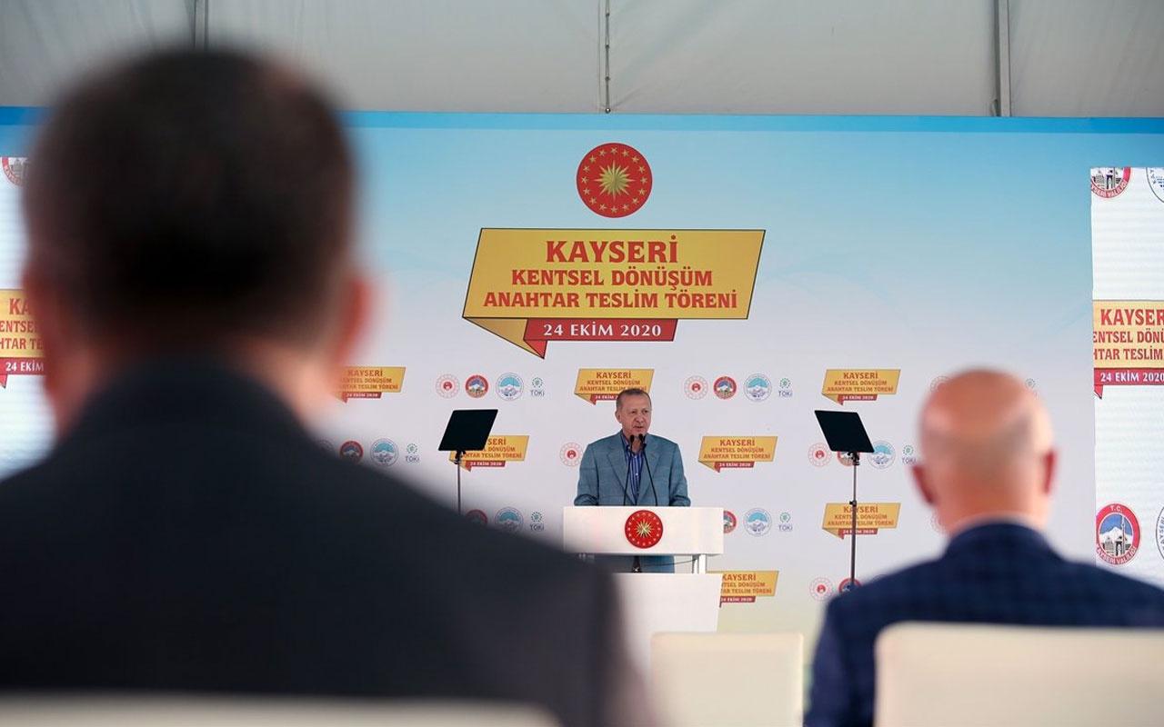 Erdoğan'dan Kayseri'de TOKİ Kentsel Dönüşüm Anahtar Teslim Töreni'nde açıklamalar