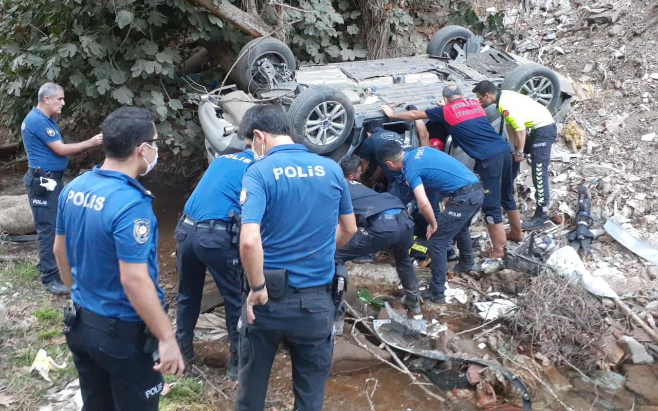 Aydın'da dereye uçan otomobil anne ile küçük kızına mezar oldu