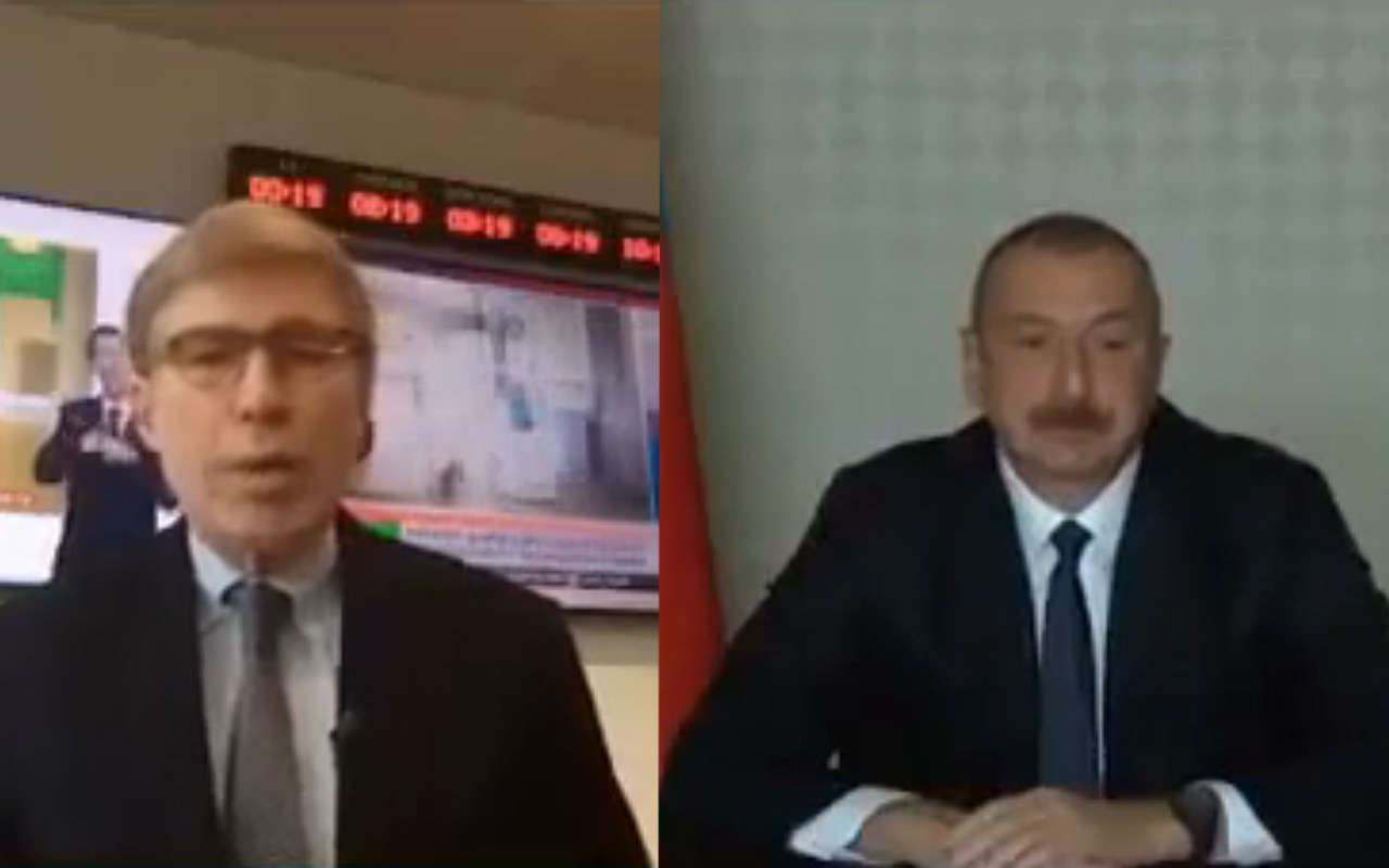 """Aliyev, """"Türkiye sizi savaşa zorluyor"""" diyen ABD'li muhabire öyle bir yanıt verdi ki..."""
