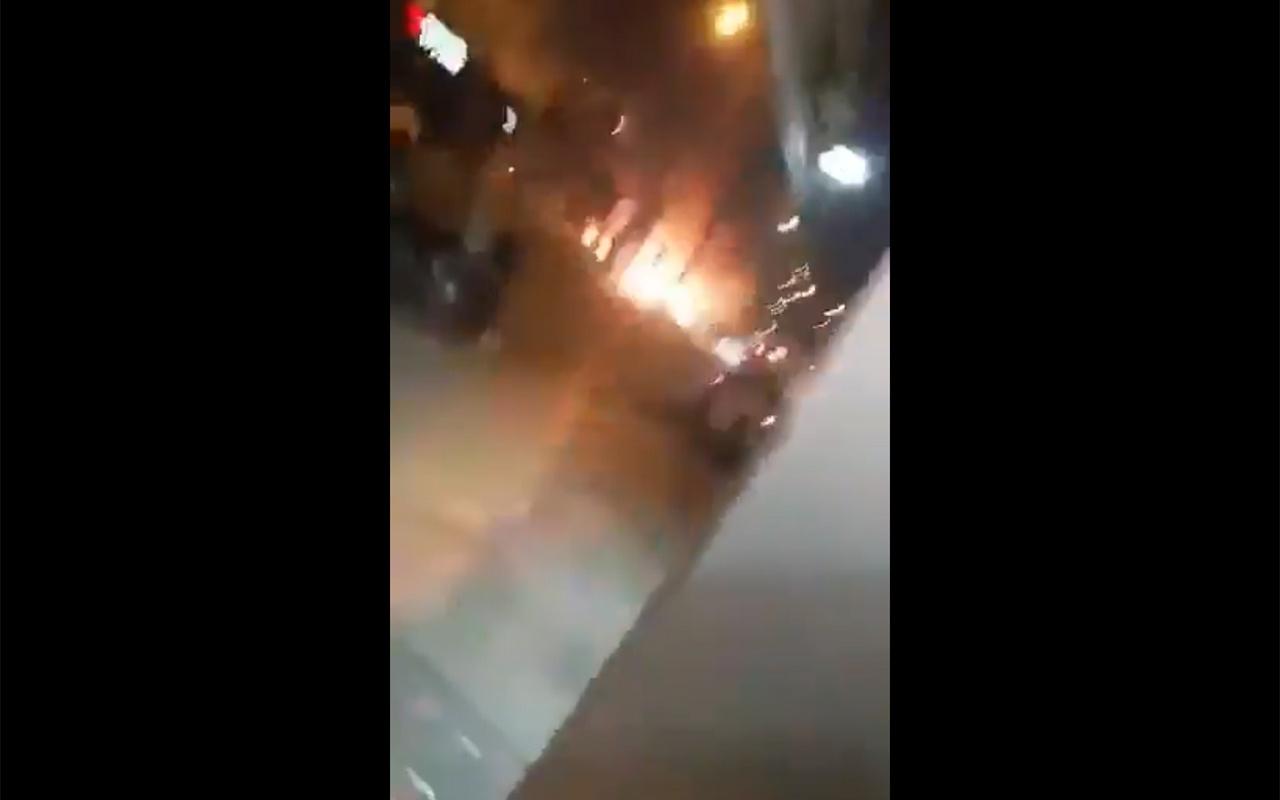 Hatay İskenderun'daki patlama anı görüntüleri! Terörist kendini patlattı