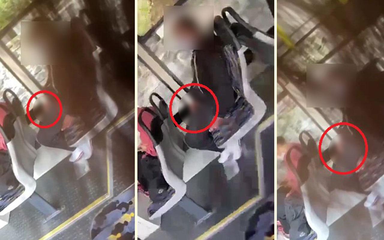 İstanbul'da belediye otobüsünde mastürbasyon skandalı! İğrenç anlar kamerada