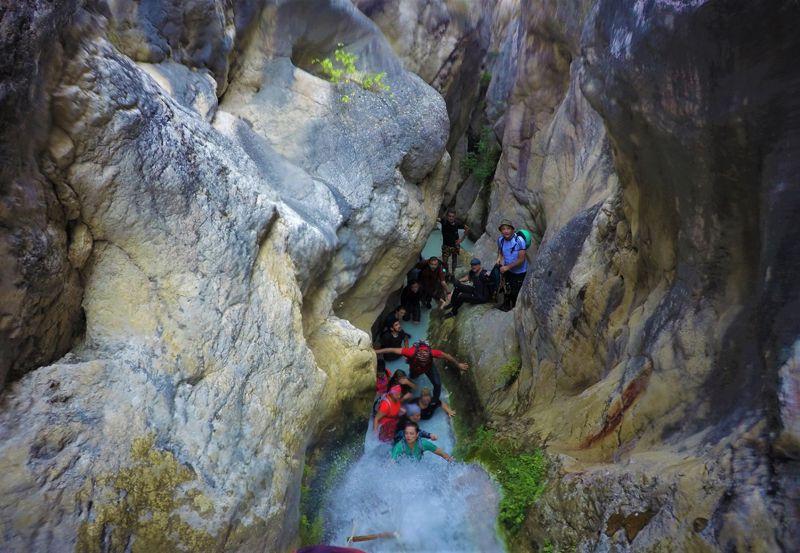 Keşfedilmeyi bekleyen Koyunlu Kanyonu havadan ve su altından görüntülendi