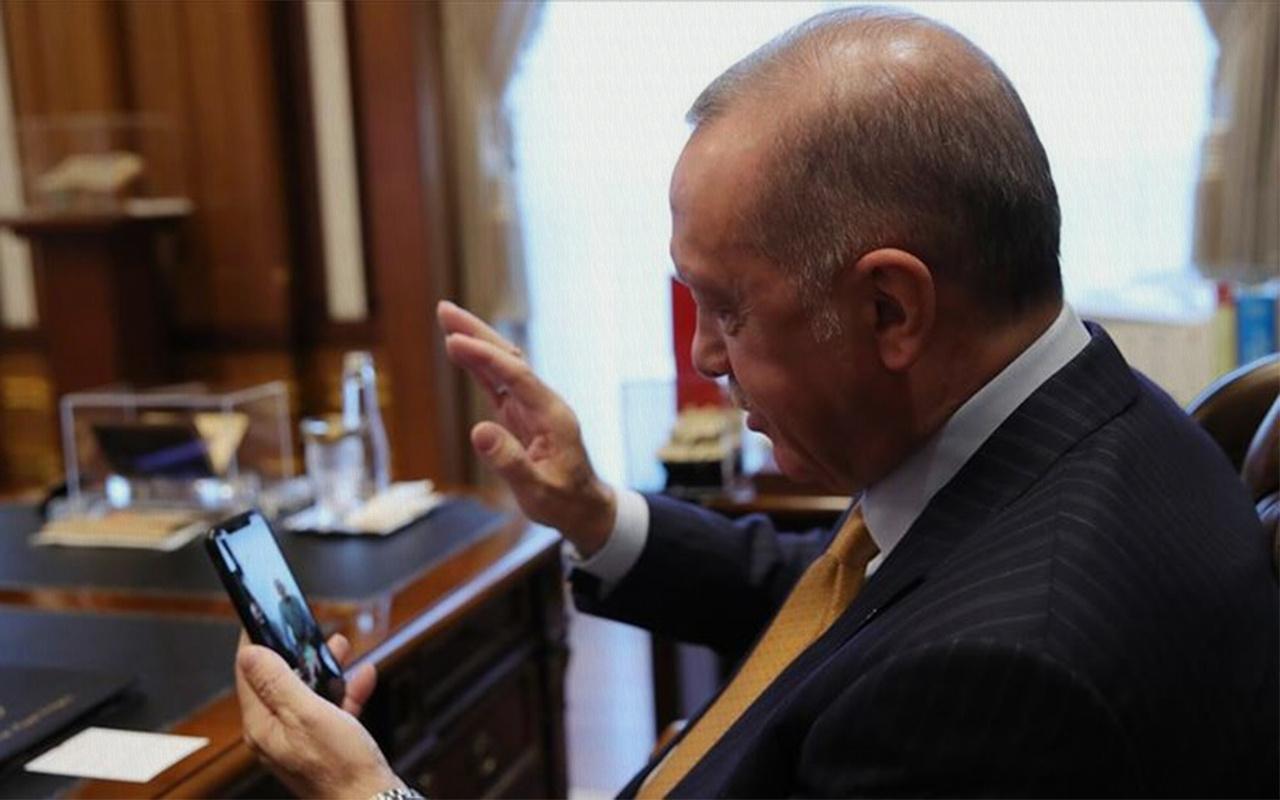 Cumhurbaşkanı Erdoğan koronavirüsü atlatan 120 yaşındaki kadınla konuştu