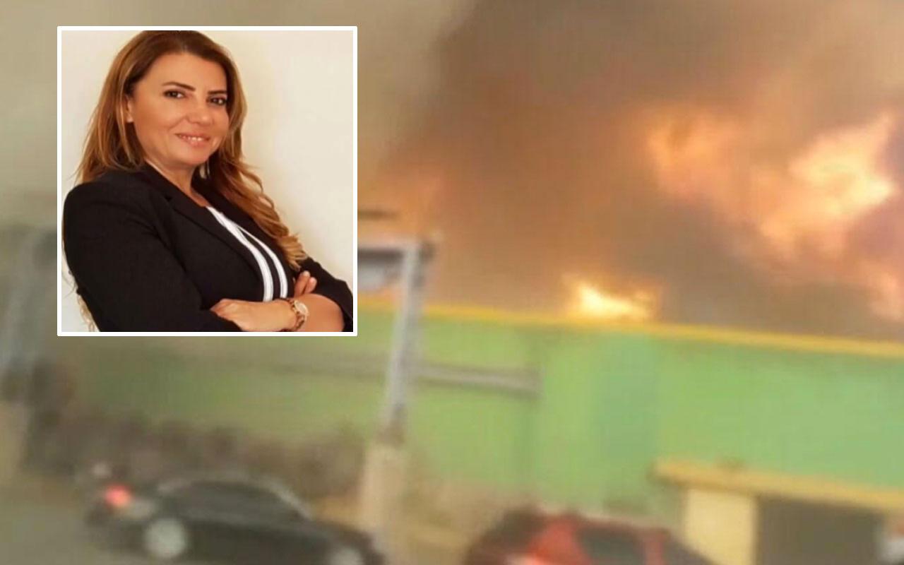 Hatay'da yangın ile hortum arasında kalan müdürün beli kırıldı dehşet anları kamerada