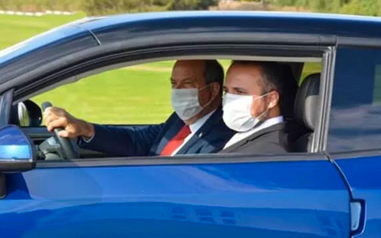 Ersin Tatar KKTC'nin yerli otomobili ile test sürüşü yaptı