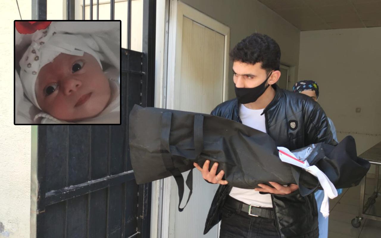 Gaziantep'te 2,5 aylık bebek feci şekilde can verdi! Babası cesedini kucağında taşıdı