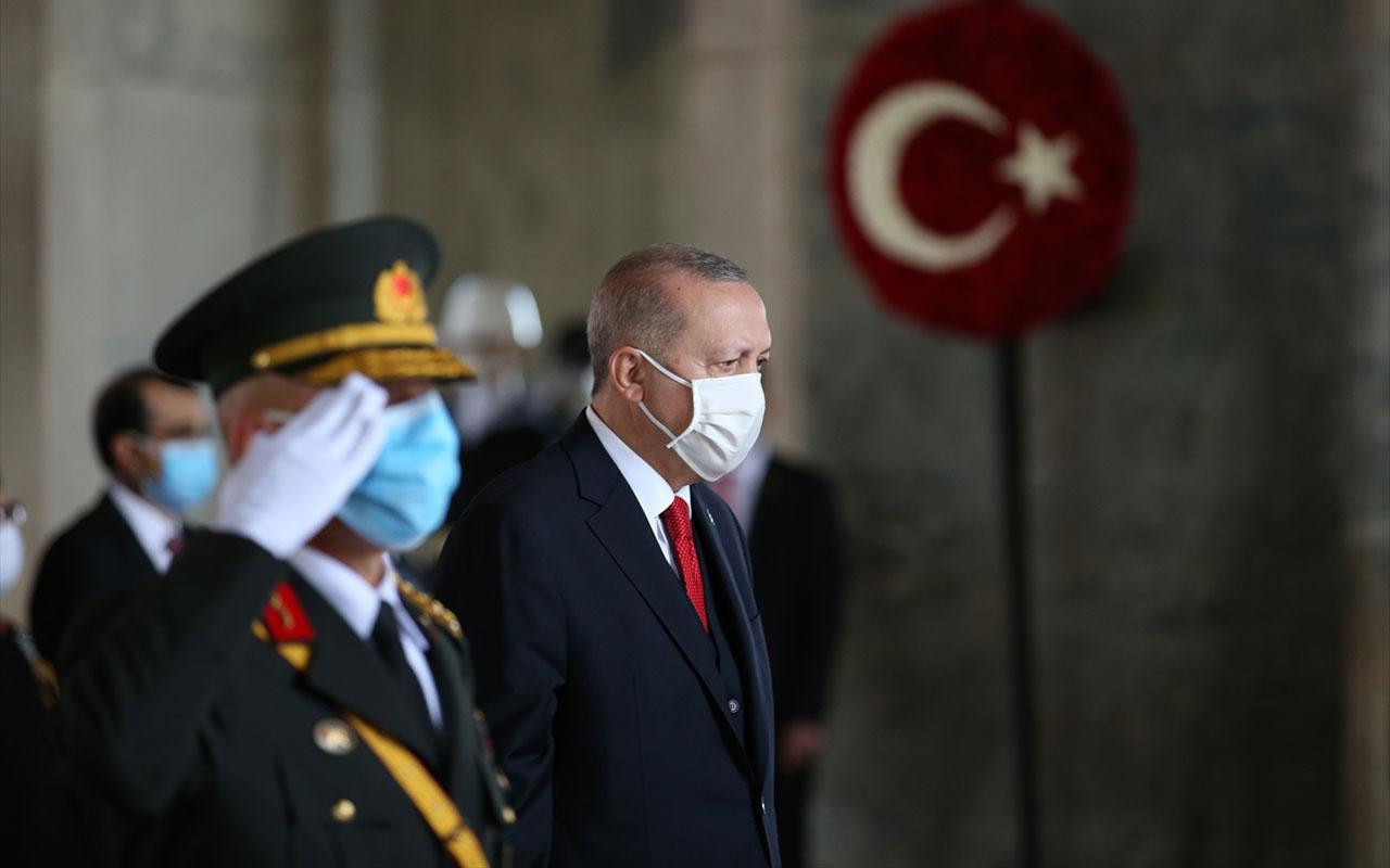 Cumhuriyet'in 97. yılı! Devletin zirvesi Erdoğan ile birlikte Anıtkabir'de çok özel fotoğraflar