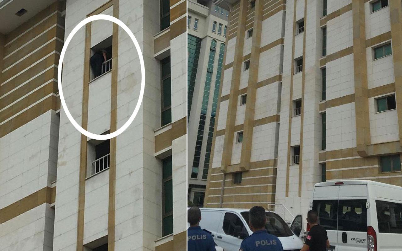 Antalya Adliye binasında intihar girişimi