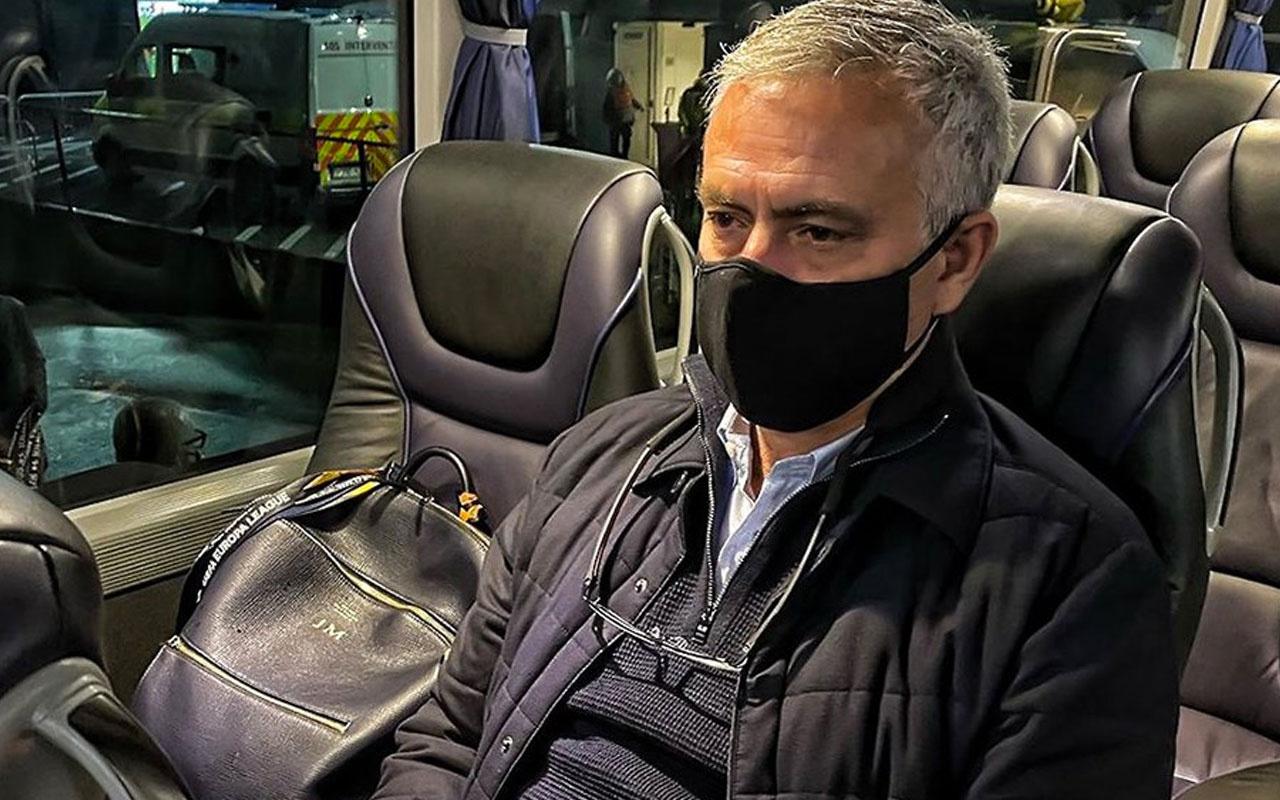 Hezimet sonrası çıldıran Mourinho otobüsten fırça attı