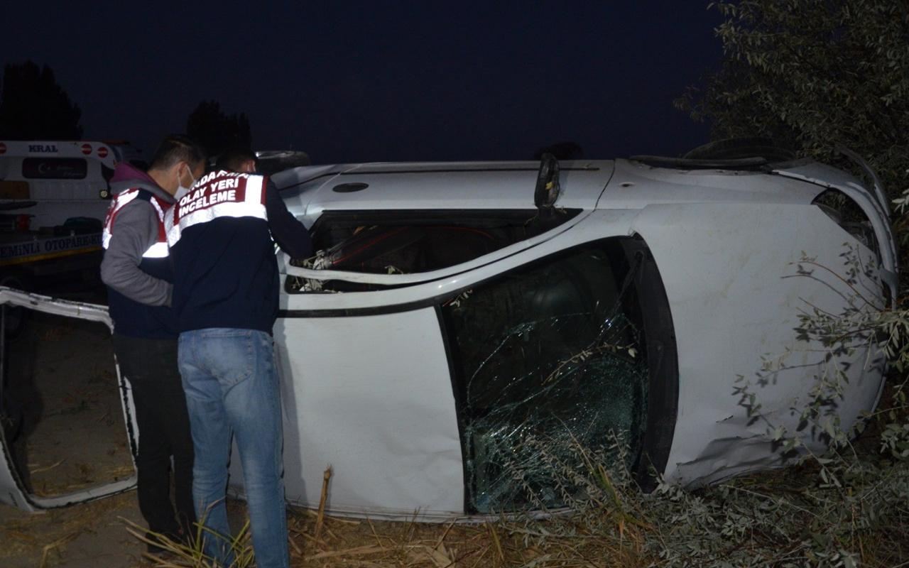 Konya'da otomobil ağaçlık alana uçtu! İki kardeşi trafik kazası ayırdı