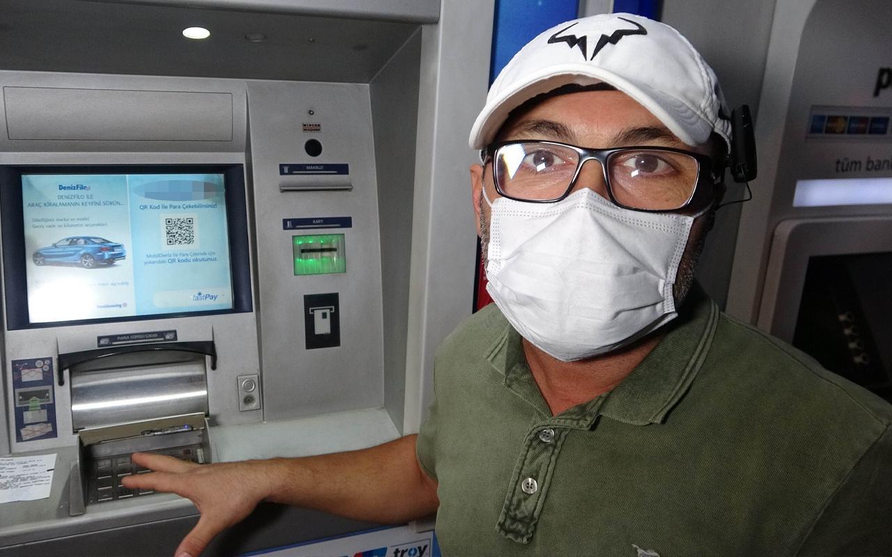 Samsun'da ATM'de para çekerken eline düştü! Gözlerine inanamadı