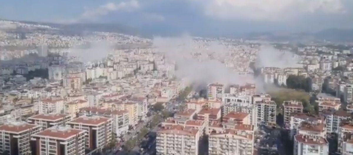 İzmir'de çok sayıda bina yıkıldı! Şiddetli deprem sonrası şok görüntüler