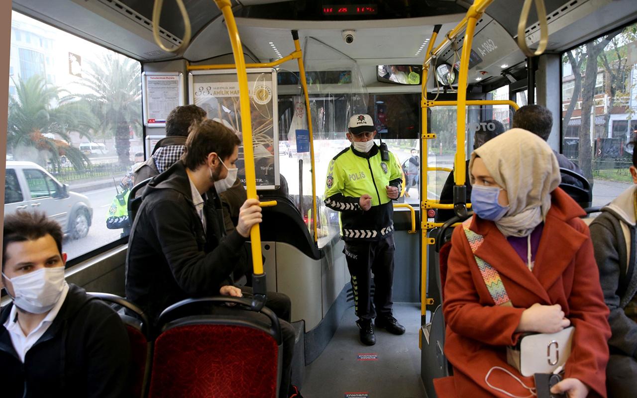 İstanbul'da toplu taşıma araçlarında Kovid-19 denetimi