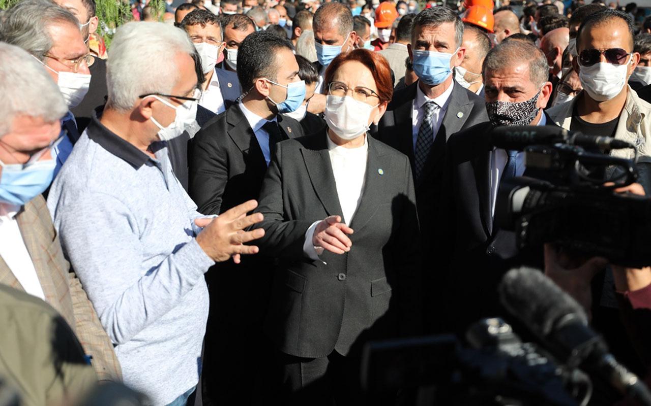 İYİ Parti Genel Başkanı Meral Akşener İzmir'de deprem bölgesinde inceleme yaptı