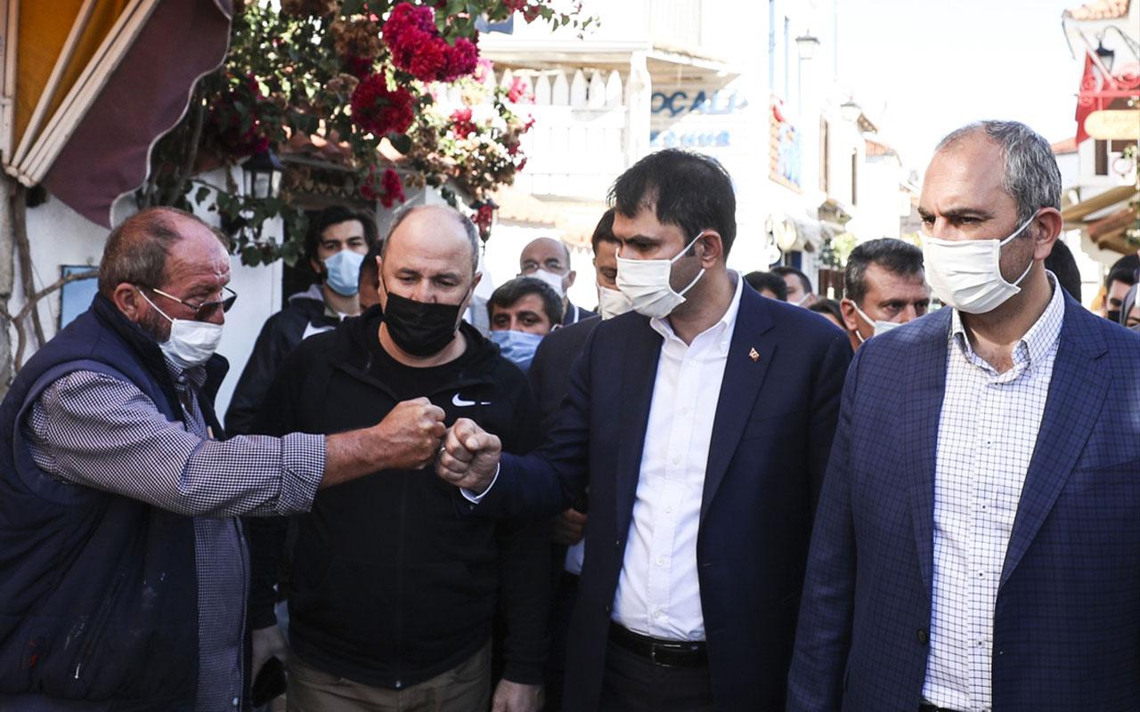 Bakanlar Murat Kurum ve Abdulhamit Gül Seferihisar'da incelemelerde bulundu